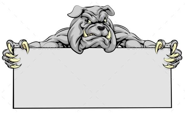 Bulldog Sports Mascot Sign - Animals Characters