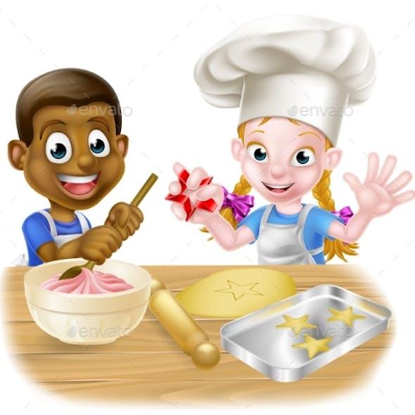 Cartoon Kids Cooking