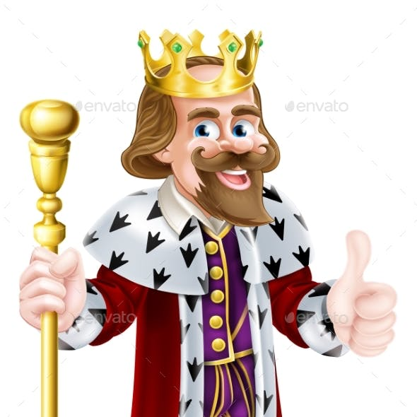 Thumbs Up King Cartoon