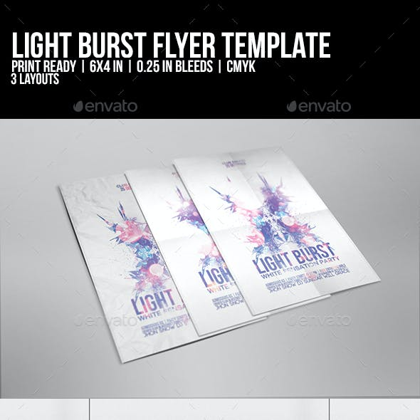 Light Burst Flyer Template