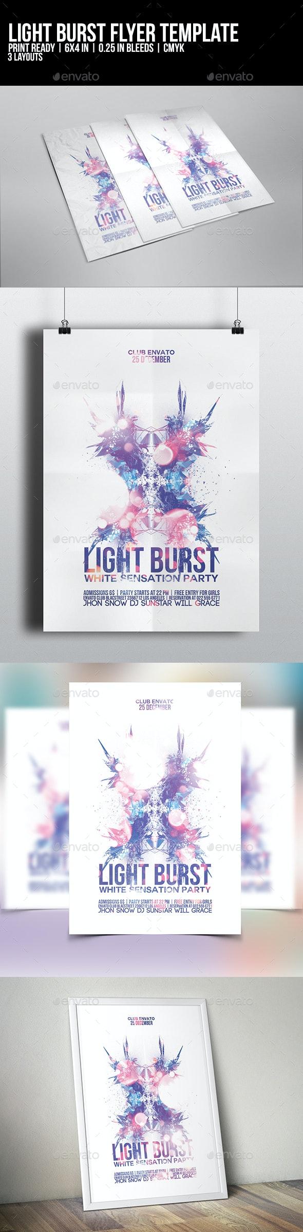 Light Burst Flyer Template - Clubs & Parties Events