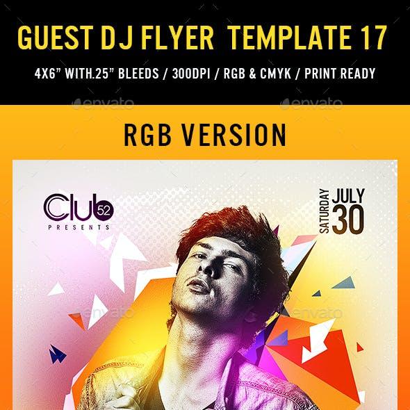 Guest DJ Flyer Template 17