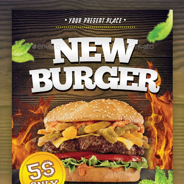 New Burger Flyer Template