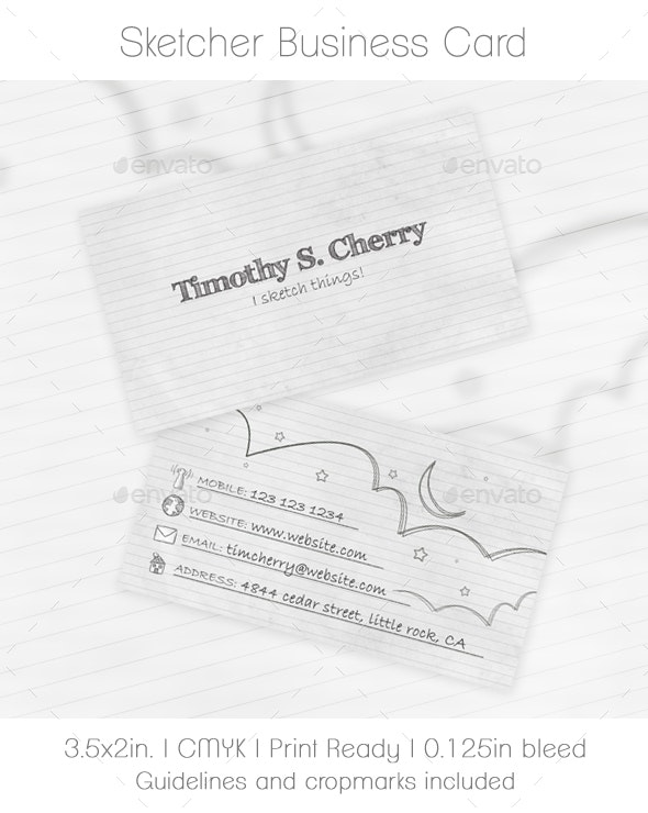 Sketcher Business Card - Creative Business Cards