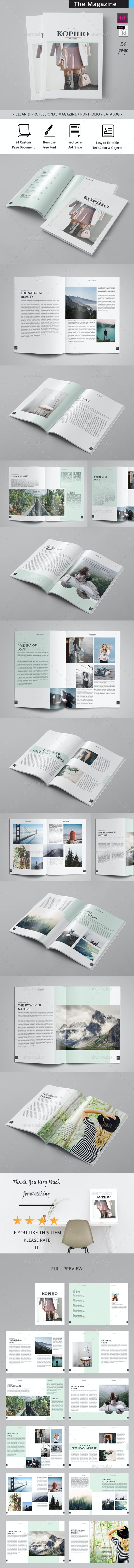 Kopiho Minimal Magazine - Magazines Print Templates