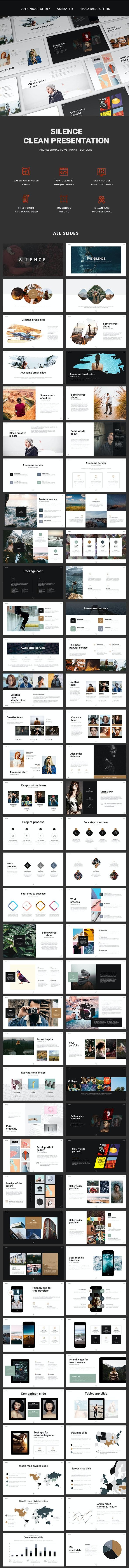 Silence Presentation - PowerPoint Templates Presentation Templates