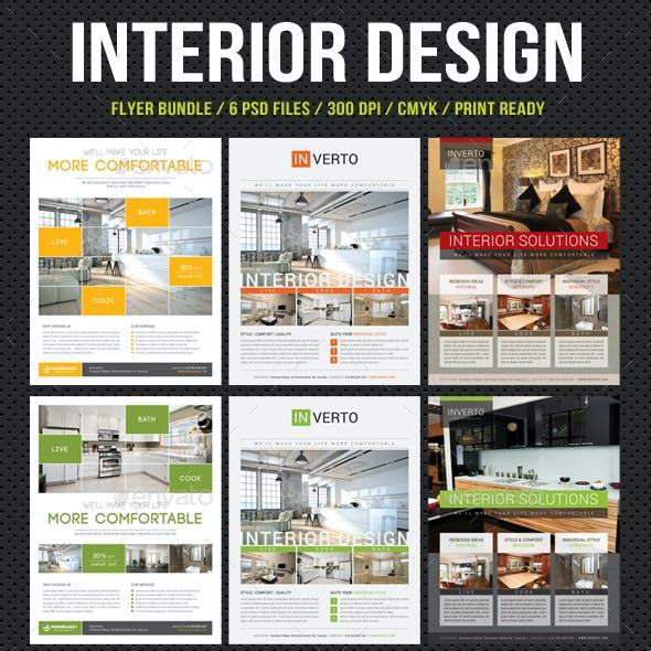 3 Interior Design Flyer Bundle