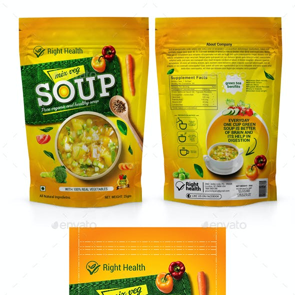 Soup Packaging Templates