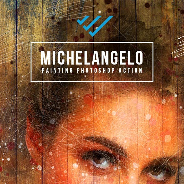 Michelangelo Painting Photoshop Action