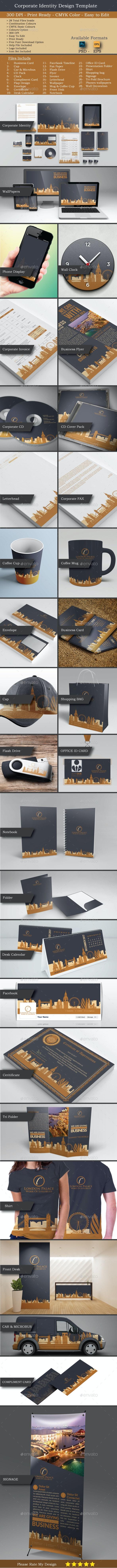 Modern Real Estate Identity Set - Stationery Print Templates