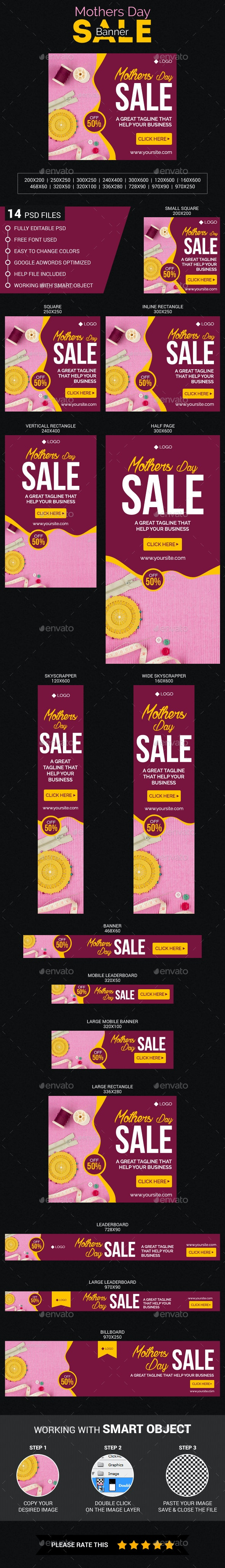 Mothers Day Sale - Banners & Ads Web Elements