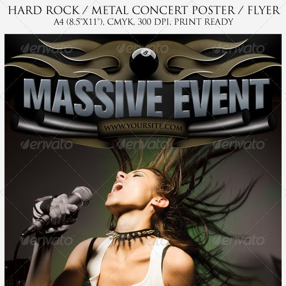 Hard Rock / Metal Poster and Flyer