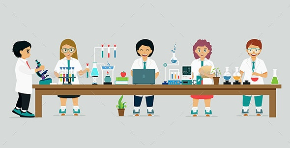 Children Scientist - People Characters