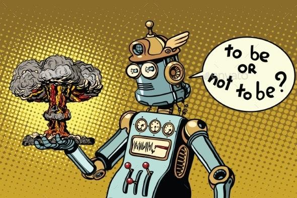 Retro Robot and a Nuclear Explosion - Miscellaneous Conceptual