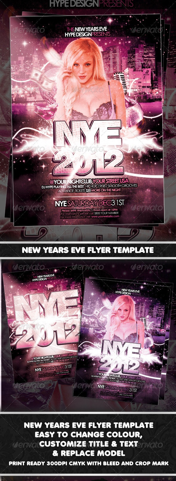 New Years Eve Flyer Template - Clubs & Parties Events