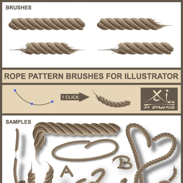 Real Rope - Brushes for Illustrator