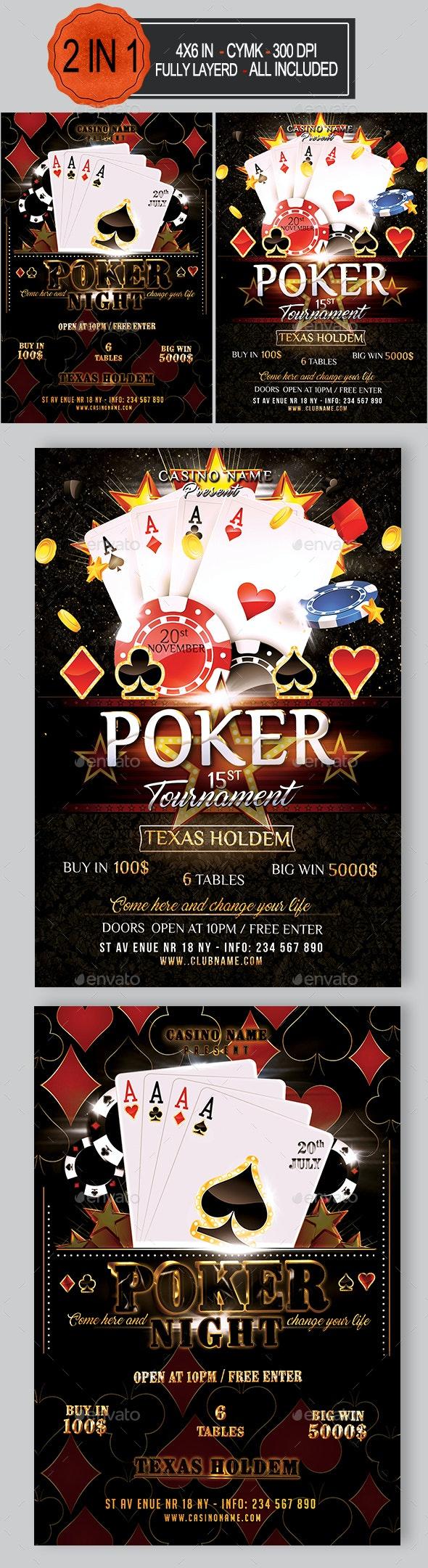 Poker Flyer Bundle - Events Flyers