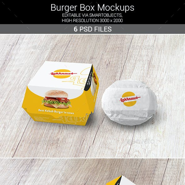 Burger Box Mockups