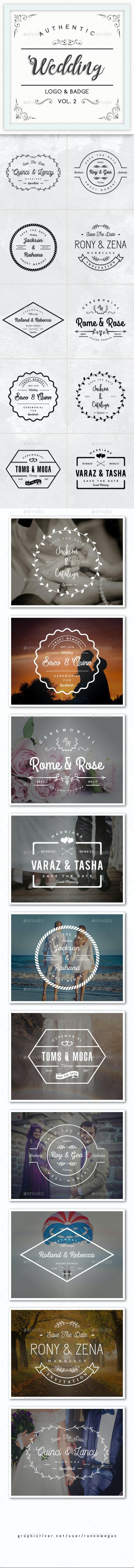 Authentic Wedding Logo & Badge Vol. 2 - Badges & Stickers Web Elements