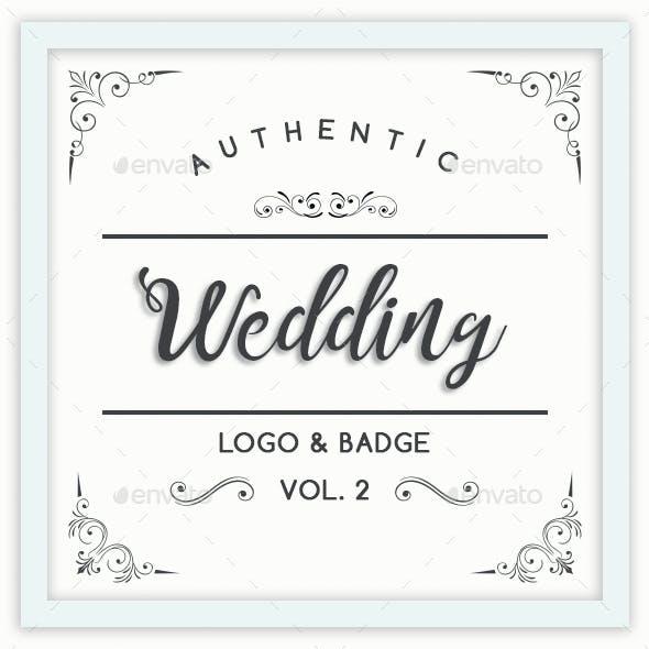 Authentic Wedding Logo & Badge Vol. 2