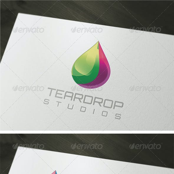 3D Teardrop Logo Template