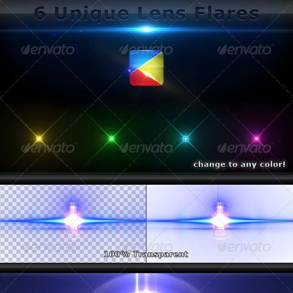 6 Unique Lens Flares - Light Effects -4-