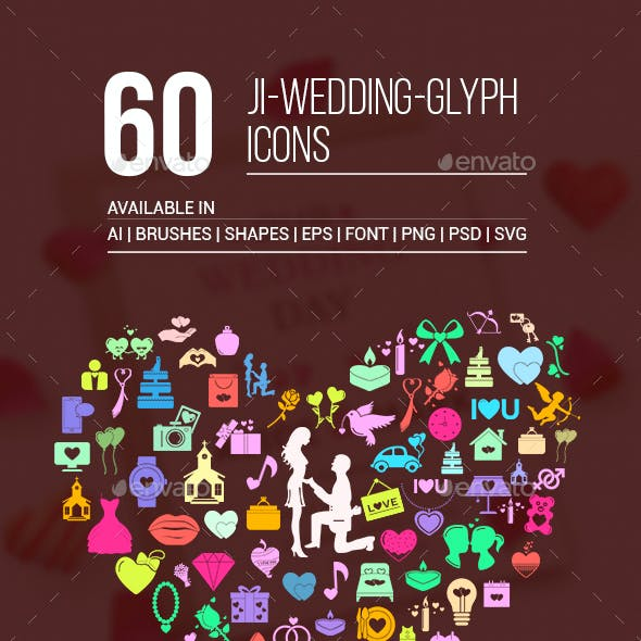 JI-Wedding (60 Icons)