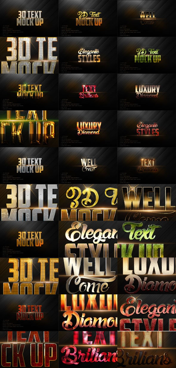 30 Text Styles V.A Bundle - Text Effects Actions