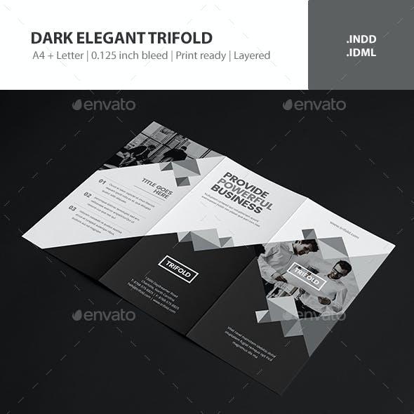 Dark Elegant Trifold