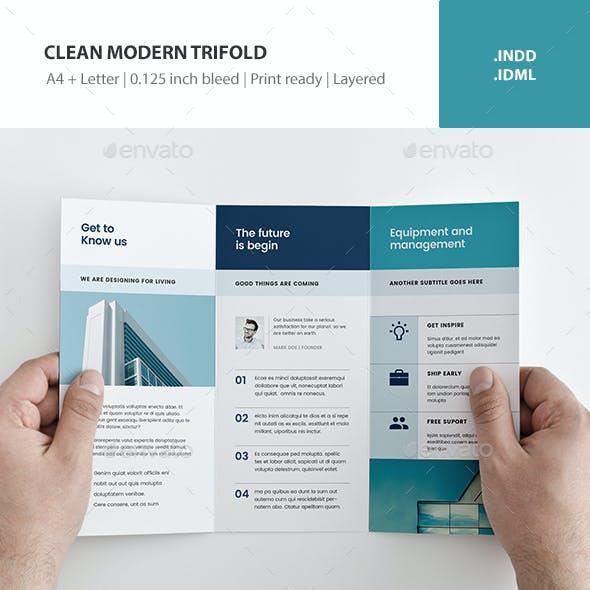 Clean Modern Trifold