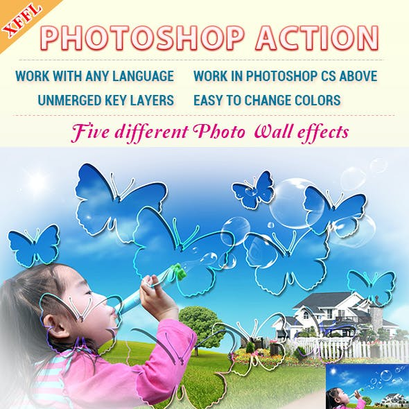 Photo Wall Effect Photoshop Action