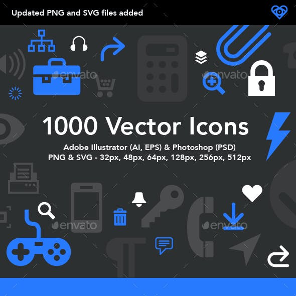 1000 Vector Icons