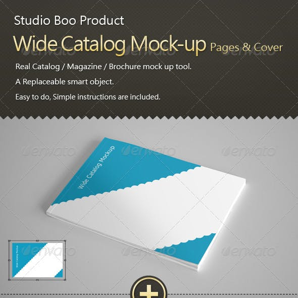 Wide Catalog / Magazine Mock-up InnerPages & Cover