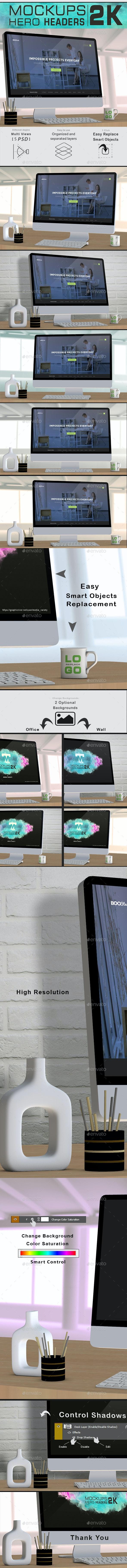 Imac Mockups Hero Headers 2k - Monitors Displays