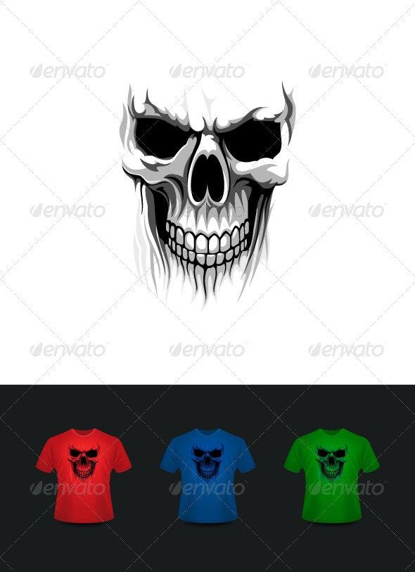 Ghost skull - Vectors
