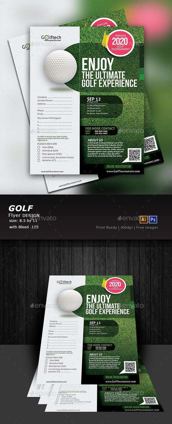 Golf Tournament Flyer - Flyers Print Templates