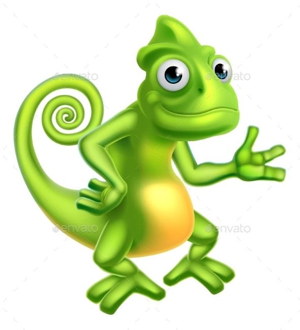 Cartoon Chameleon - Animals Characters