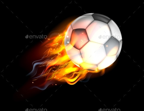 Soccer Ball on Fire - Man-made Objects Objects