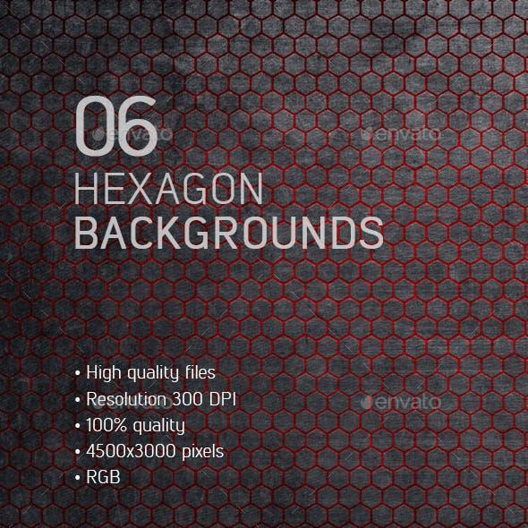 6 Hexagon Backgrounds