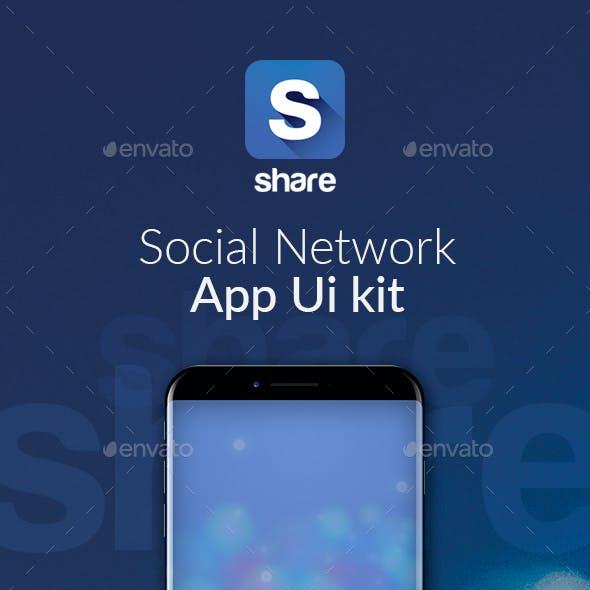Share - Mobile Social Network App Ui kit