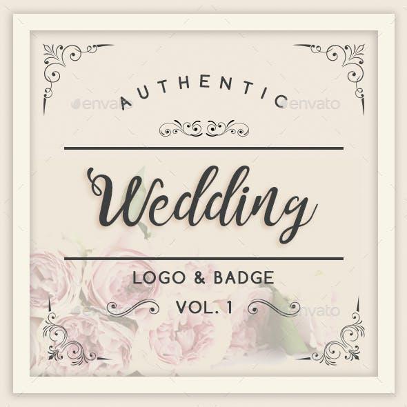 Authentic Wedding Logo & Badge