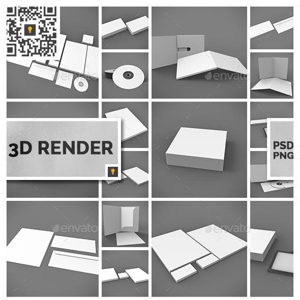 Branding Stationary 3D Render