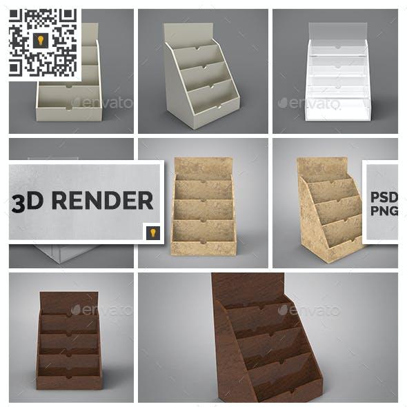 Business Card Holder 3D Render