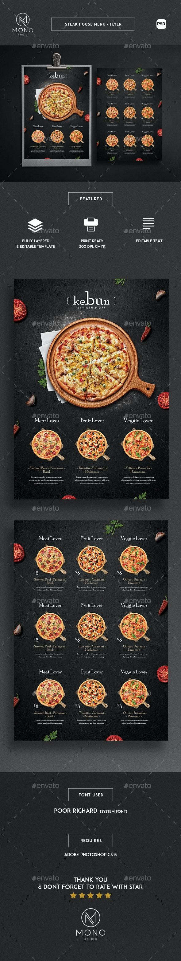 Cardápio Pizza rústica-Flyer