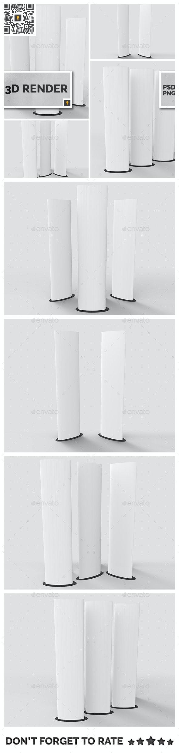 Elliptical Totem Display 3D Render - Objects 3D Renders