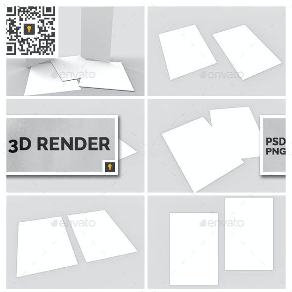 Flyer 3D Render