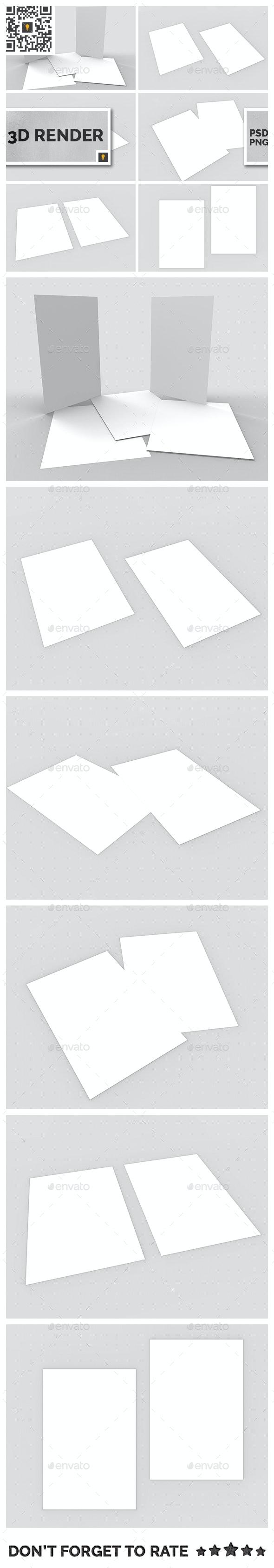 Flyer 3D Render - Objects 3D Renders