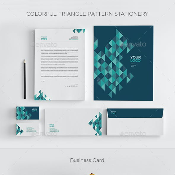 Colorful Triangles Pattern Stationery