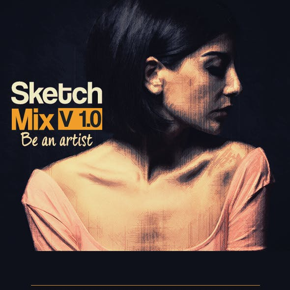 Sketch Mix 87 Photoshop Actions