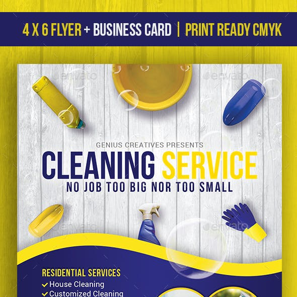 Cleaning Service / Cleaning Business Flyer